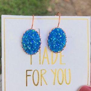 ✨NEW✨Iridescent Royal Druzy Earrings!